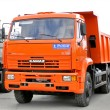 Red dump truck — Stock Photo