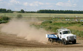 Cross-country truck race — Stock Photo