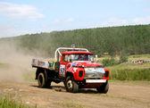 Cross-country truck race — Stock Photo