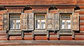 Tres ventanas — Foto de Stock