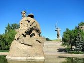 Monument Stay to Death in Volgograd — Stock Photo