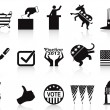 Stock Vector: Black election icons set