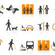 Accessibility icons set — Stock Vector