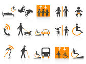 Accessibility icons set — Stockvektor