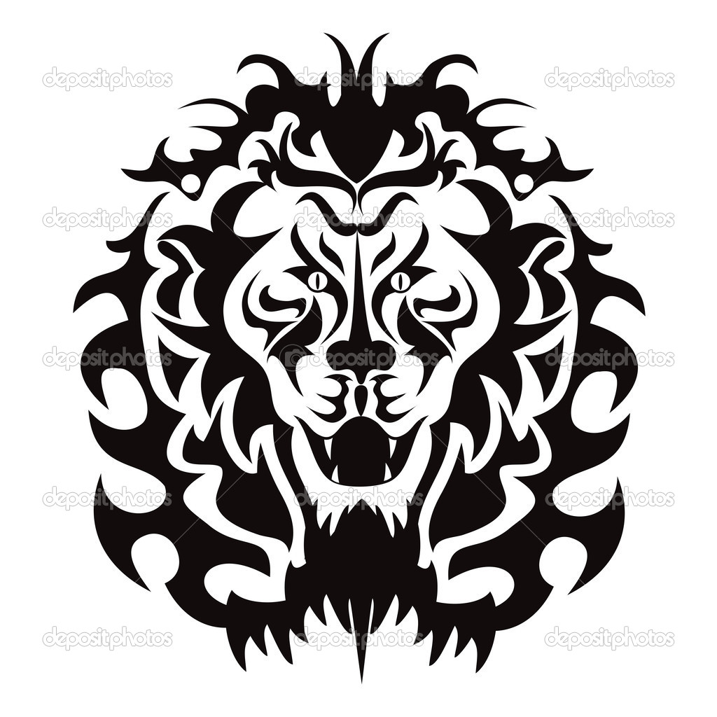 The graphic pattern of lion head — Stock Vector #10567399
