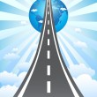 Stock Vector: Road to success