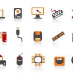 Computer equipment icon color series — Stock Vector
