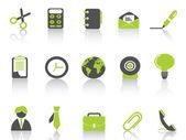 Série de ícone verde do escritório — Vetorial Stock