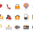 Simple social media icons — Stock Vector