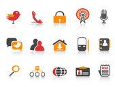 Icônes de médias sociaux simple — Vecteur