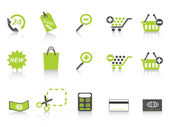 Shopping icon green series — Stock Vector
