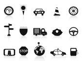 Icono de tráfico negro — Vector de stock