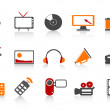Simple media tools icon set — Stock Vector #8659126