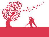 Дерево любви сердца — Cтоковый вектор