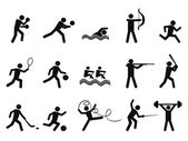 Sport silhouettes icon — Stock Vector