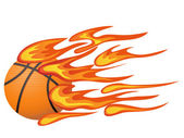 Basketball with flame — Stock Vector