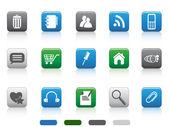 Webové ikony-barevný čtvereček série — Stock vektor