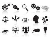 Conjunto de iconos de conceptos de estrategia — Vector de stock