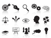Strateji kavramları icons set — Stok Vektör