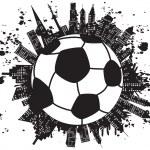Grungy football city — Stock Vector #9642781