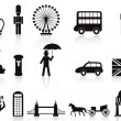 Stock Vector: London icons set
