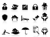 Insurance icons set — Stock Vector