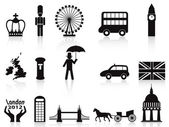 Londen icons set — Stockvector