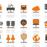 conjunto de iconos de conexiones de red — Vector de stock  #9983344