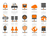 Network connection icons set — Stock Vector