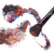 Stock Photo: Crushed eyeshadows