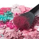 Set of multicolor crushed eyeshadows — Stock Photo #9045857