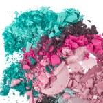 Set of multicolor crushed eyeshadows — Stock Photo #9047228