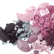 Multicolored crushed eyeshadows — Stock Photo