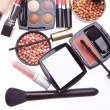 Set of cosmetic makeup products — ストック写真