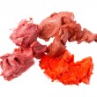 Smudged lipsticks — Stock Photo