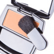 Compact blush with brush — Stock Photo