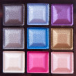 Colorful eyeshadows — Stock Photo
