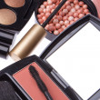 Set of cosmetic makeup products — 图库照片