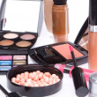 Set of cosmetic makeup products — Stockfoto