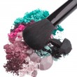 Set of multicolor crushed eyeshadows — Stock Photo #9055603
