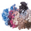 Stock Photo: Set of multicolor crushed eyeshadows