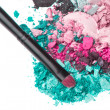 Set of multicolor crushed eyeshadows — Stock Photo #9056719