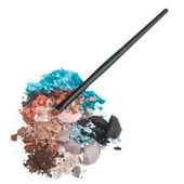 Set of multicolor crushed eyeshadows — Stock Photo