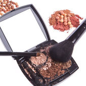 Crushed compact eyeshadows — Stock Photo