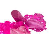 Crushed lipsticks — Stock Photo