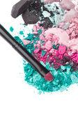 Satz von multicolor zerdrückten eyeshadows — Stockfoto