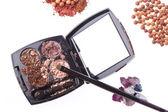 Crushed compact eyeshadows — Stock Photo