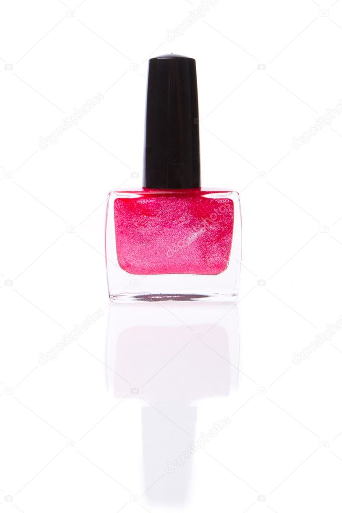 Nail polish isolated on white background  Stock Photo #9058546