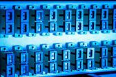Optic fiber hub — Stock Photo