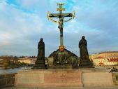 Статуя на Карлов мост — Стоковое фото